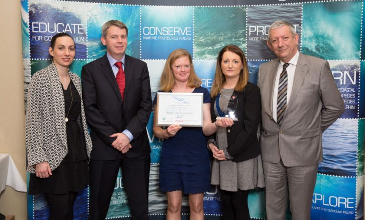 Go Strandhill - Receiving-Clean-Coasts-Ocean-Hero-Award-in-Dublin