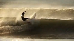 Stephen Kilfeather surfing around Sligo