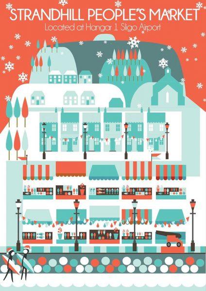 Go Strandhill - Strandhill People's Market Xmas Poster